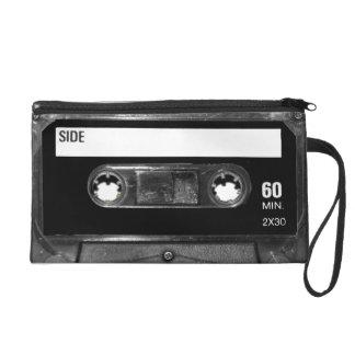 Black Label Cassette Wristlet Purse
