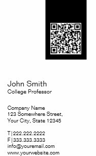 College professor business cards zazzle black label qr code professor business card colourmoves