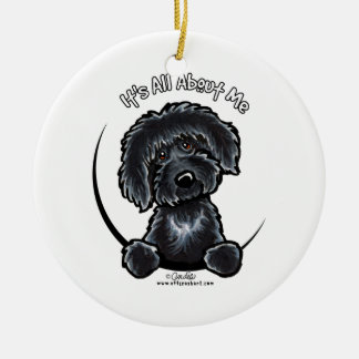 Black Labradodle IAAM Ceramic Ornament