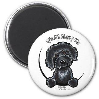 Black Labradodle IAAM Magnet