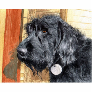 Black Labradoodle #1 Sculpture Standing Photo Sculpture