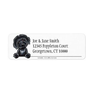 Black Labradoodle Clean & Simple Label