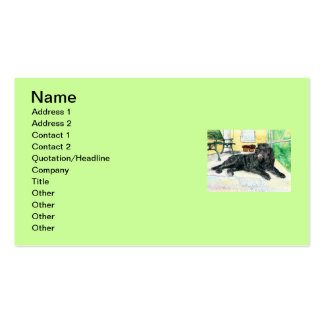 black Labradoodle Double-Sided Standard Business Cards (Pack Of 100)