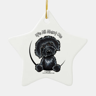 Black Labradoodle IAAM Ceramic Ornament