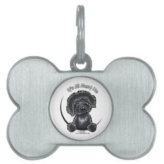 Black Labradoodle IAAM Keychain Pet Tag