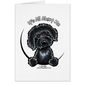 Black Labradoodle IAAM Simple Card