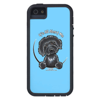 Black Labradoodle Its All About Me Off-Leash Art™ Case For iPhone SE/5/5s