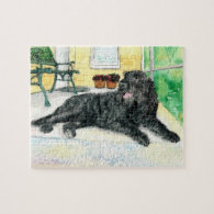 Black Labradoodle Jigsaw Puzzles
