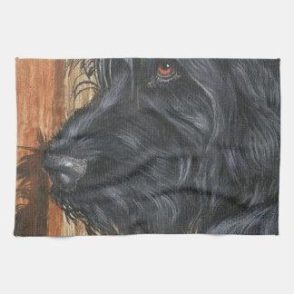 Black Labradoodle Kitchen Towel