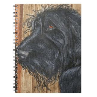 Black Labradoodle Notebook