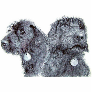Black Labradoodles Sculpture Standing Photo Sculpture