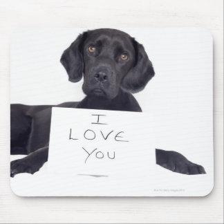 Black Labrador 13 Months Mouse Pad