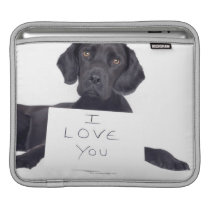 Black Labrador 13 Months Sleeve For iPads