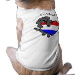 Black Labrador and Dutch Heart Cartoon T-Shirt