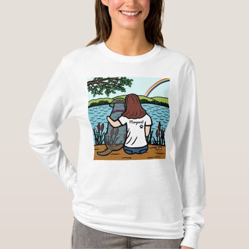 Black Labrador and Mom Rainbow Bridge Shirt