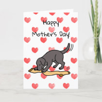 Black Labrador and Stocking Mother's Day Card