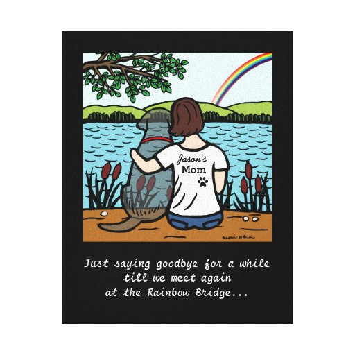 Black Labrador Angel and Mom 3 Canvas