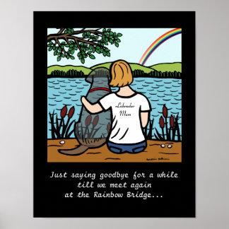 Black Labrador Angel and Mom Poster
