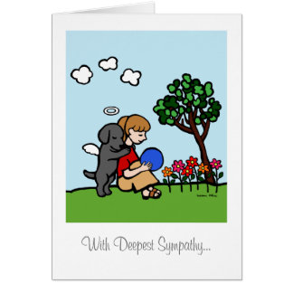 Black Labrador Angel with Love Card