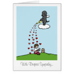 Black Labrador Angel with Love Greeting Cards