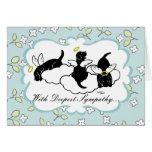 Black Labrador Angels Floral Greeting Card