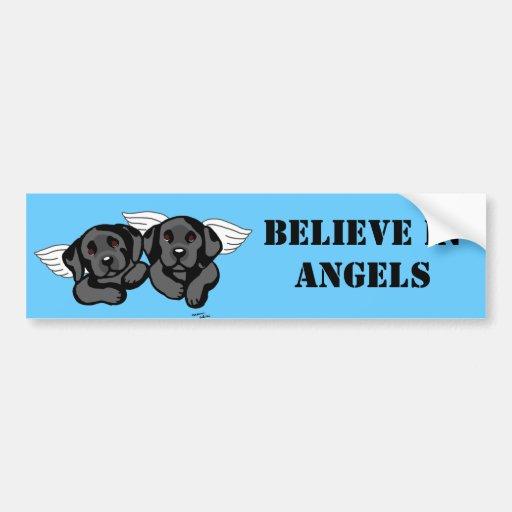 Black Labrador Angels (Rainbow Bridge) Bumper Sticker