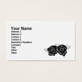 Black Labrador Angels (Rainbow Bridge) Business Card