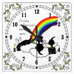 Black Labrador Angels Rainbow Bridge Clock