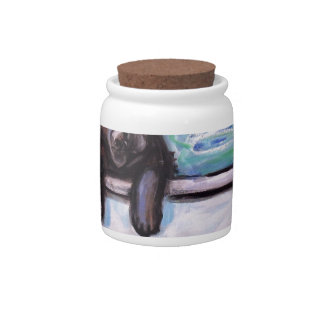 Black Labrador bathtub Candy Dish