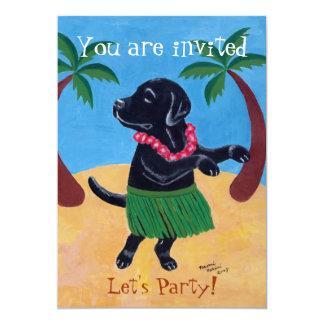 Black Labrador Birthday Party Invitations