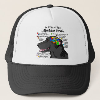 Black Labrador Brain Atlas Trucker Hat