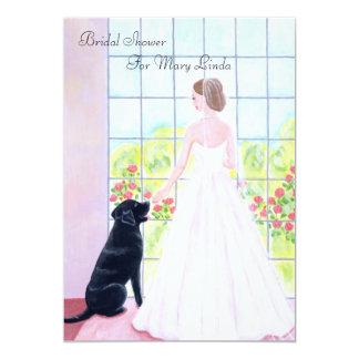 Black Labrador Bridal Shower Card