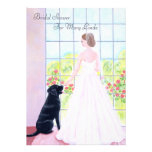 Black Labrador Bridal Shower Custom Invites