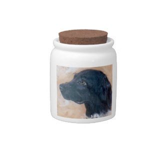 Black Labrador Candy Jar Treat Canister