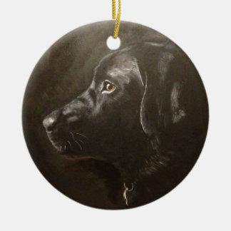 Black Labrador Ceramic Ornament