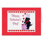 Black Labrador Chef Painting Valentine Greeting Cards