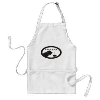 Black Labrador Coffee Theme Adult Apron