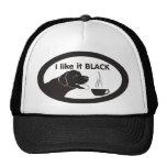 Black Labrador Coffee Theme Trucker Hat