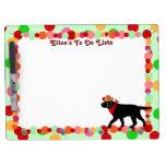Black Labrador Cowboy Cartoon Dry Erase Boards