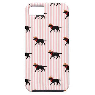 Black Labrador Cowboy Cartoon iPhone SE/5/5s Case
