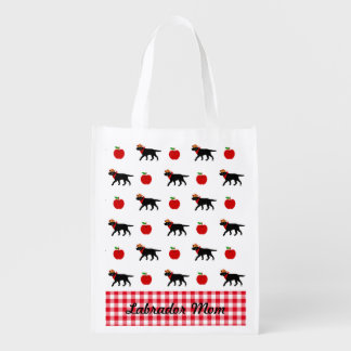 Black Labrador Cowboy Grocery Bag