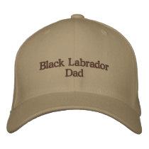 Black Labrador Dad Text Embroidered Baseball Hat