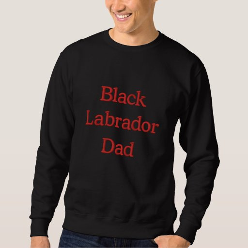 Black Labrador Dad Text