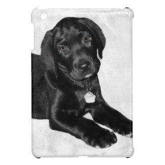 Black labrador dog iPad mini cases