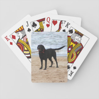 Black Labrador Dog Playing Cards