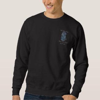 black labrador dog portrait art with fun slogan sweatshirt