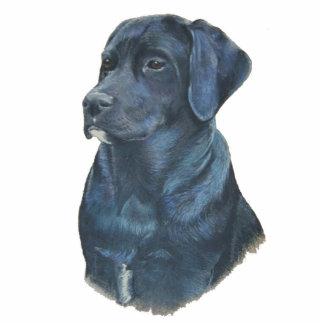 black labrador dog portrait original art cutout