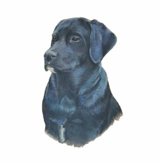 black labrador dog portrait original art statuette