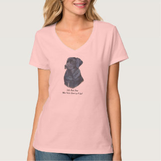 black labrador dog portrait original fun slogan T-Shirt