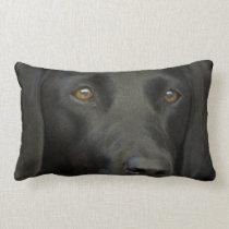 Black Labrador Dog Throw Pillows